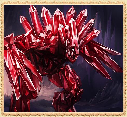 Красный кристаллем